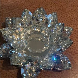 Crystal candle stick holder . Brand new .